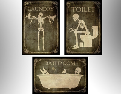 Cool Toilet ,bathroom & Laundry signes for your doors.
