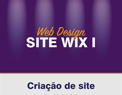 Criação de site e marca - Plataforma Wix I