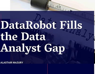 Alastair Majury | DataRobot Fills the Data Analyst Gap