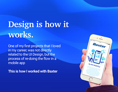 Design Thinking - My first project Baxter