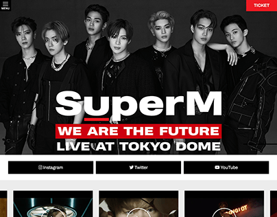 SuperM We Are The Future Live in Japan Website