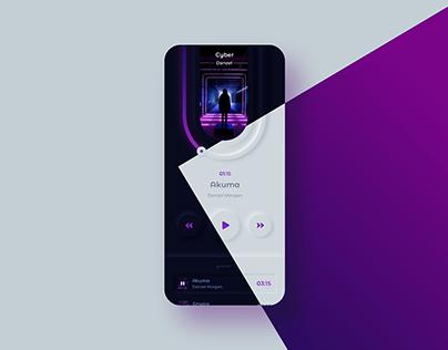 Neumorphic Music Player App