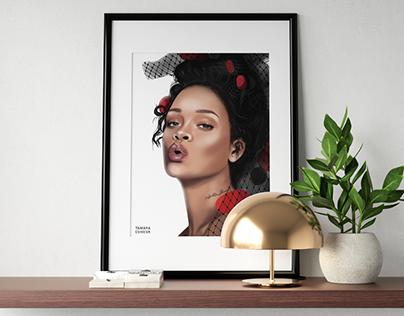 Digital Rihanna Portrait