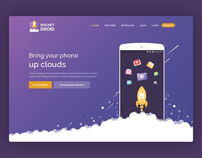 RocketDroid - Landing page Website