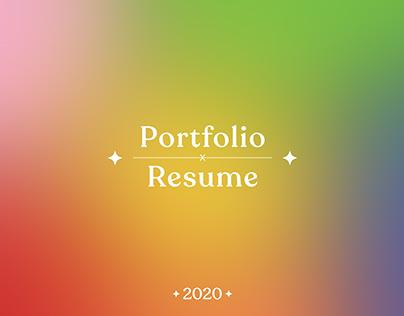 Portfolio x Resume 2020