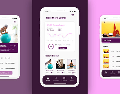 Adobe XD Daily Creative Challenge - Workout App
