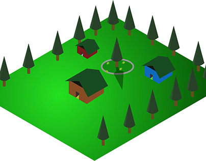 HUTS IN THE JUNGLE:ISOMETRIC