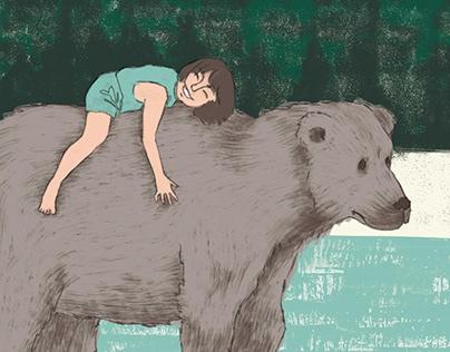 My teddy bear – children illustration
