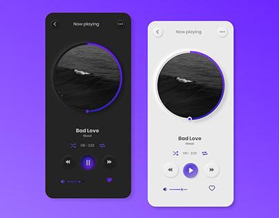 Music player (Daily UI Challenge)