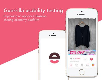 Guerrilla Usability Testing - Case Study