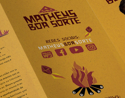 Matheus Boa Sorte Material Promocional