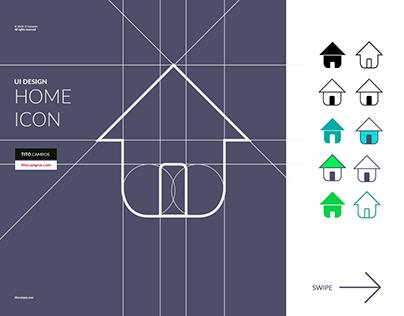 Home Icon Design (UI Design Process)
