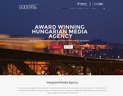 Corporate Website - Goodwill Communications
