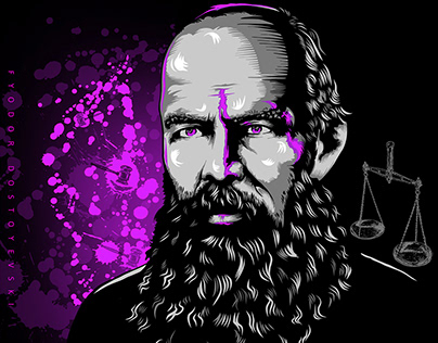 Fyodor Dostoyevski - Digital art - Vector Drawing