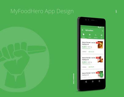 MyFoodHero App Design