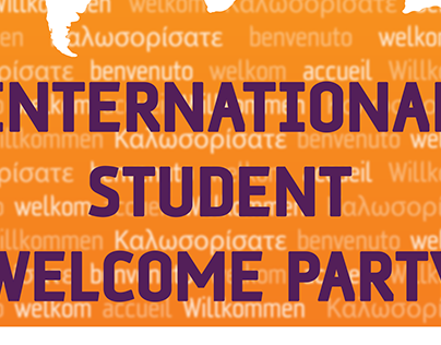 International Student Welcome Party - Event Poster
