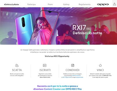 """OPPO RX17 - CONTEST """"DEFINISCI LA NOTTE"""""""