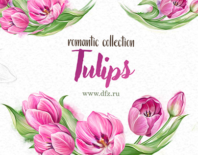 Tulips/ Print dishes