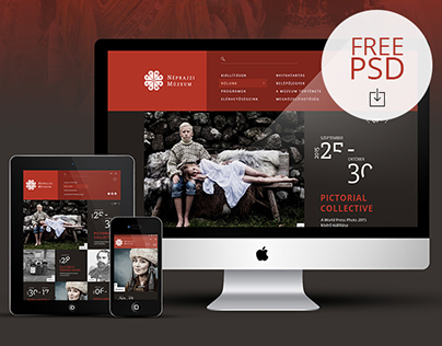 ETHNOGRAPHY MUSEUM // Redesign concept [FREE PSD]