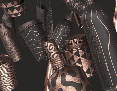 Packaging Design - Black & Copper