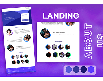 Landing page (ABOUT US)