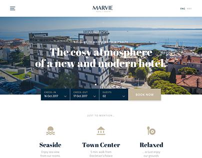 Hotel Marvie website