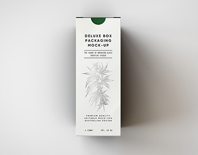 Deluxe Paper Box Mock-Up