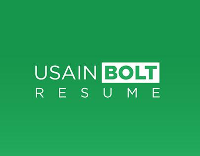 Usain Bolt - CV/Resume