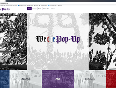 DCA / We the Pop-UP Web Design / WIX
