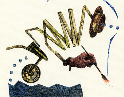THE FAREWELL HANDBOOK: Drawings & collages.