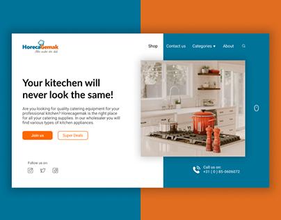 Landing page - Kitchenware shop
