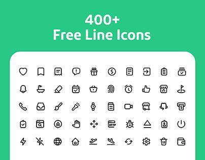 400+ Free Line Icons
