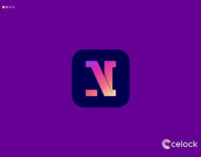 N Letter Logo Mark - App Logo Design