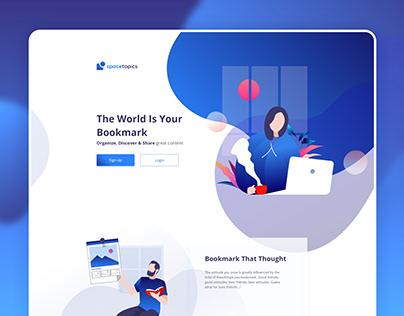 Article Bookmark Landing Page Design