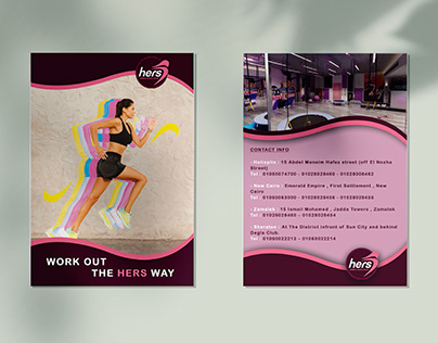 flyer for hers gym