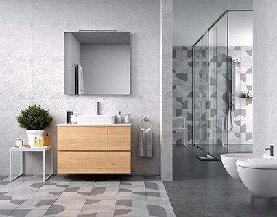 Визуализация ванной. Render of Bathroom