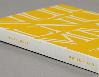 Umberto Eco Nullnummer - Buchgestaltung