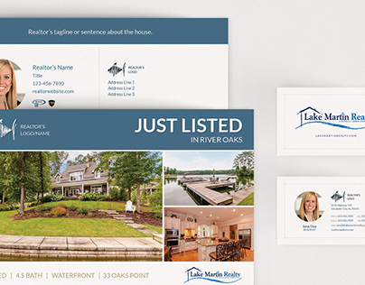Lake Martin Realty Postcard Templates & Business Cards