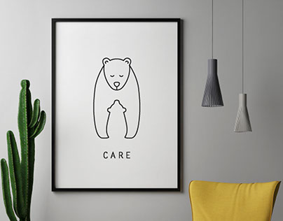 """Line art collection """"If not us, then who will care?"""""""