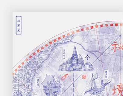 熱血荒源 Steamblood Map & Pamphlet design