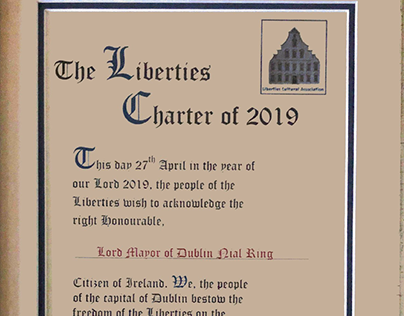 Freedom of the Liberties Certificate