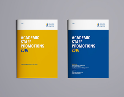 Academic Staff Promotions Booklets