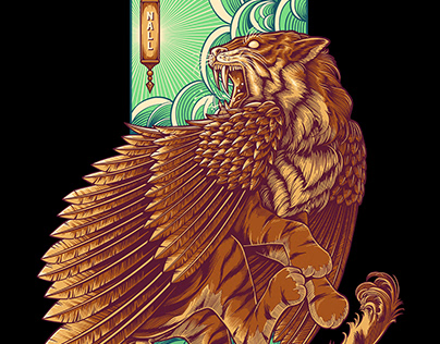 NALL CLOTH   WINGED TIGER