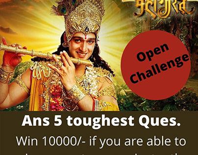 Toughest Quiz Mahabharata | Winner get 10000 rs