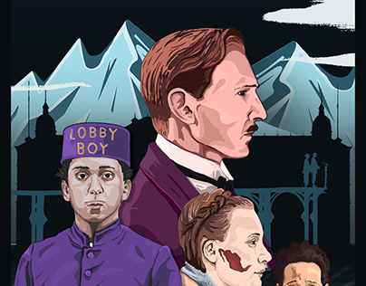 THE GRAND BUDAPEST HOTEL FAN ART
