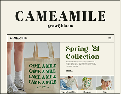 Cameamile │E-commerce Redesign