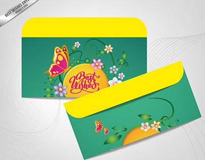 Best Wishes Envelop design