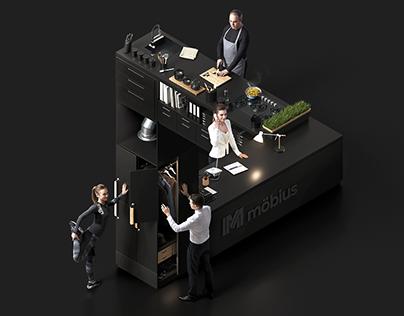 Möbius — Impossible Interior — 3D Key Visual
