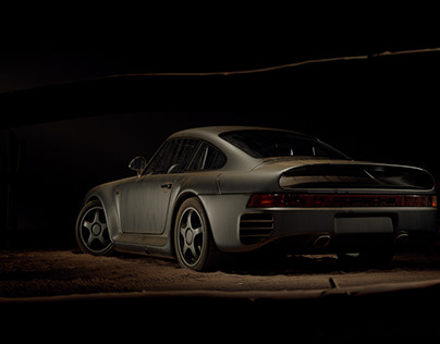 Porsche 959 CGI