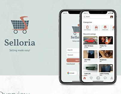 Selloria - Classifieds App Design Concept